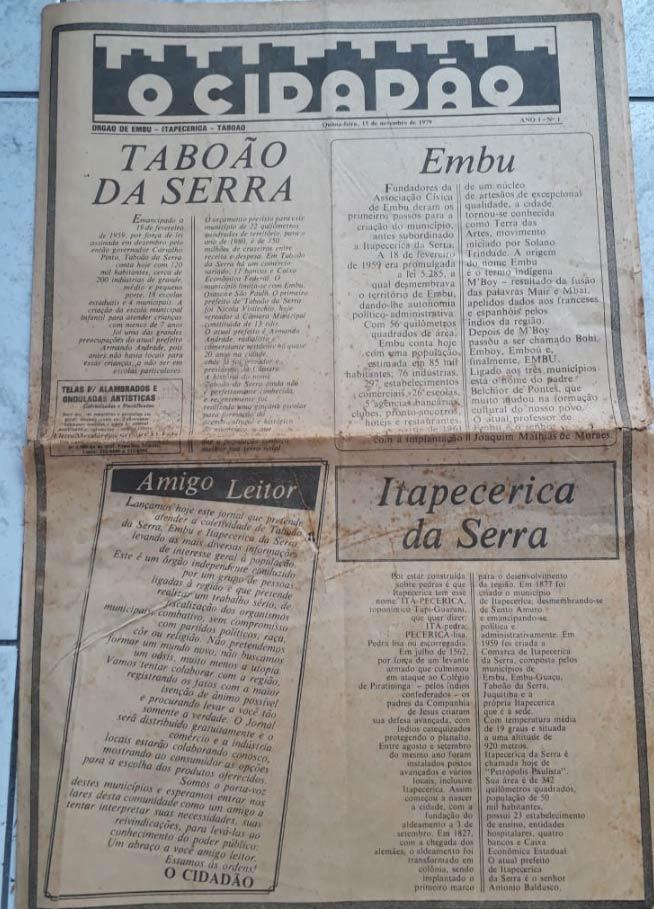 Acervo / Jornal O Cidadão